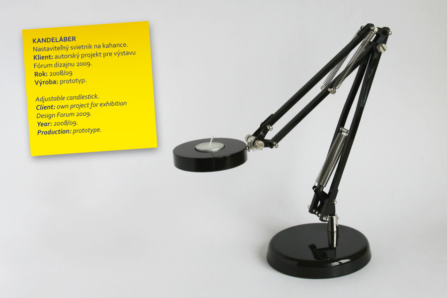 kandelaber adjustable candlestick